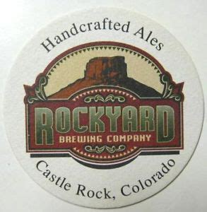 rockyard brewing coaster castle rock colorado 2000 ebay
