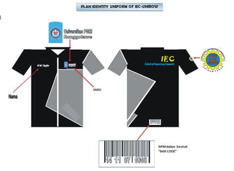 desain kemeja community teknik industri seragam iec
