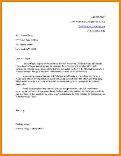 Formal Letter To Editor Formal Letter Template 6 Letter To The Editor Template Cashier Resume