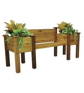 patio bench with planters cedar planter bench deck planters