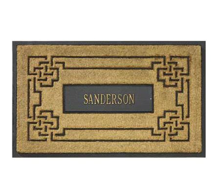 Personalized Coir Doormat Personalized Coir Doormat With Aluminum Insert Page 1 Qvc