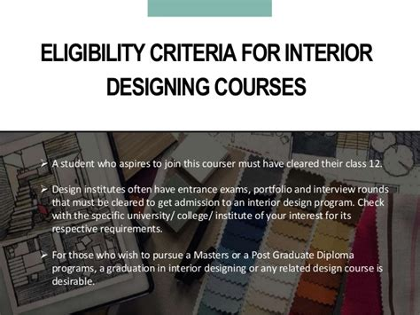 Eligibility Criteria For Interior Designing by Cool Eligibility Criteria For Interior Designing With What