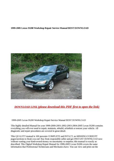 what is the best auto repair manual 1999 nissan maxima free book repair manuals calam 233 o 1999 2005 lexus is200 workshop repair service manual best download