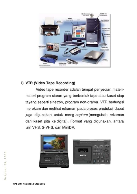 format vhs adalah perangkat broadcasting