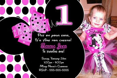 free minnie mouse 1st birthday invitations templates free minnie mouse invitations 1st birthday template