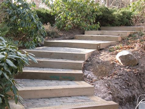 the 2 minute gardener photo landscape timber stairs steps on pinterest retaining walls railroad ties and stairs
