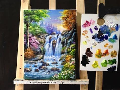 acrylic painting learning paint flowers with acrylic paint and a palette knife