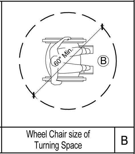 Chair Symbol Floor Plan by Building Rfa Turning Circle Ada