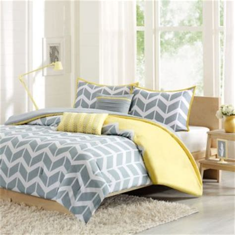 yellow bedding buy yellow grey comforter from bed bath beyond