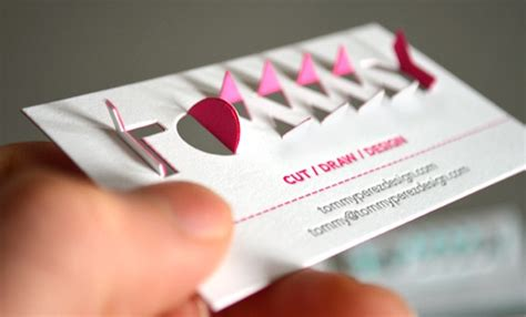 an awesome name card with an interactive pop up 3d logo