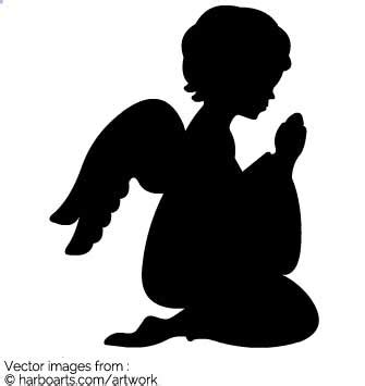 designing silhouettes of angels demo download praying angel silhouette vector graphic