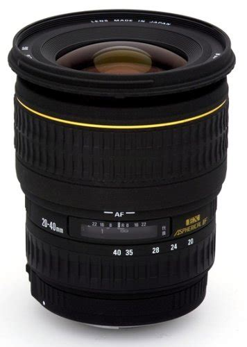 Lensa Sigma Wide Angle cheap sigma 20 40mm f 2 8 ex dg aspherical wide angle zoom lens for canon slr cameras for sale