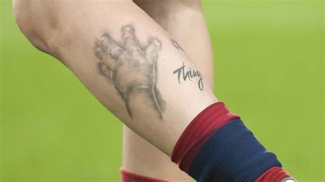 messi new tattoo thiago lionel messi tattoos from year to year inspirationseek com