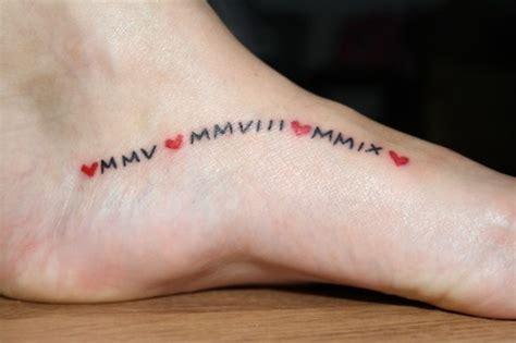 roman numeral fonts tattoo google search tattoo roman numeral tattoo on foot google search but with