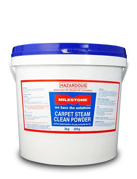 rug cleaning powder carpet steam clean powder milestone chemicals