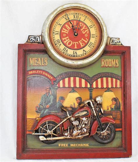 Vintage Retro Cooper Harley Metal Iron Table Clock Jam Meja vintage harley davidson clock for sale classifieds
