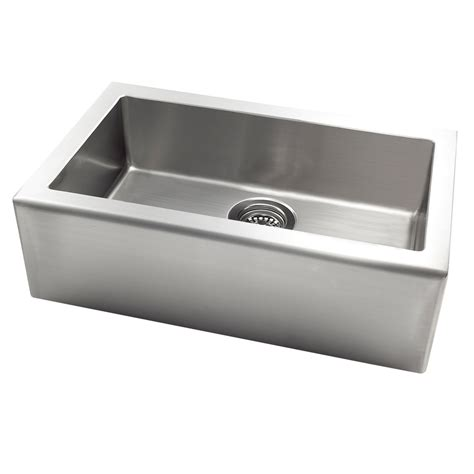 Steel Kitchen Sink Shop Stainless Steel Single Basin Apron Front Farmhouse Kitchen Sink At Lowes
