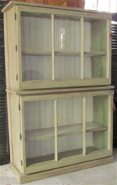 Salvaged Windows Used As The Doors On A Beautiful Used Storage Cabinets With Doors