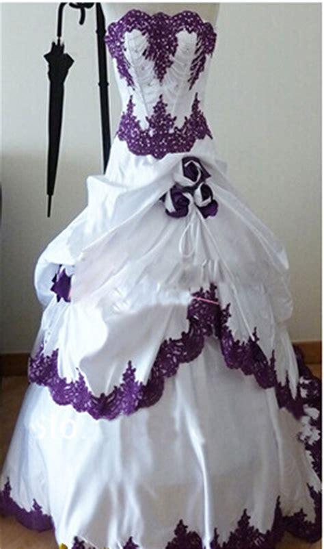 Custom Wedding Dresses Purple And White by Buy Wholesale Purple And White Wedding Dresses From