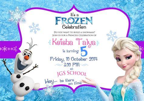 Undangan Ulang Tahun Frozen Miyoku Design Frozen