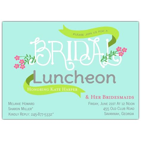 Floral Bridal Luncheon Invitations Paperstyle Bridesmaid Luncheon Invitations Template