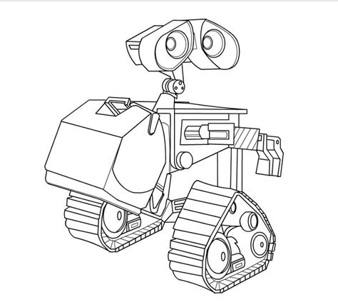 Wall E Coloring Pages by Wall E Free Coloring Pages