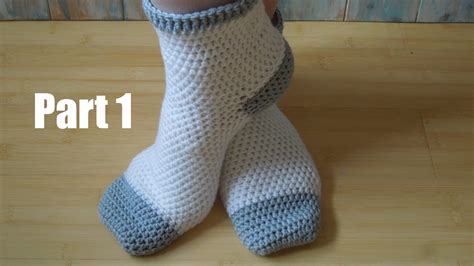 crochet socks pattern youtube crochet pt1 how to crochet adult socks yarn scrap
