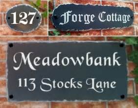 house names house signs plaques personalised house names door number plates