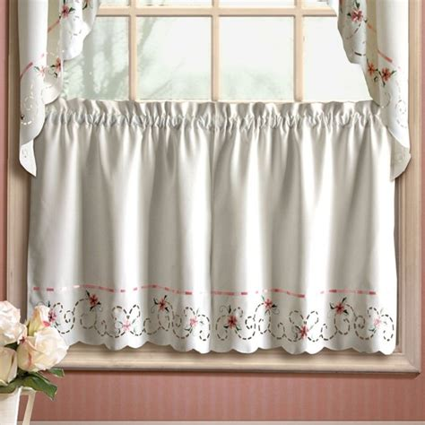 Kitchen Curtains Modern United Curtain Rachael Kitchen Tier Modern Curtains By Hayneedle