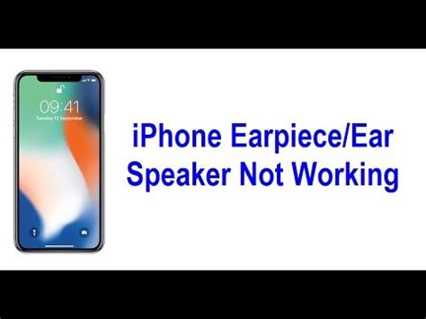 iphone  earpieceear speaker  working heres  fix youtube