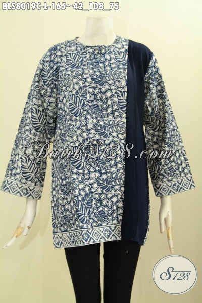 Atasan Batik Belakang baju batik atasan wanita murah blus pias sing kancing
