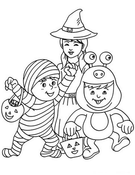 fun and spooky halloween coloring pages costumes family