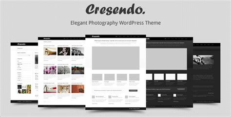 themeforest photography themeforest cresendo elegant photography wordpress theme