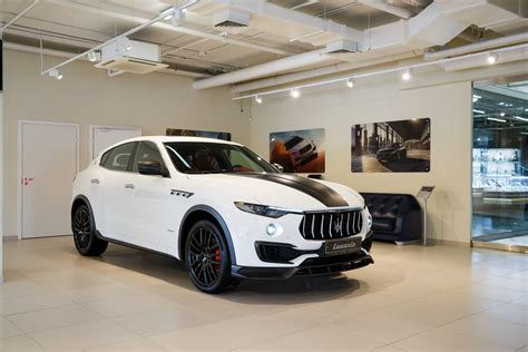 maserati levante white maserati levante is painted in white to easily spot the