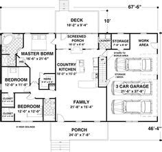crandall cliff one story home plan 013d 0130 house plans one story bungalow floor plans crandall cliff one story
