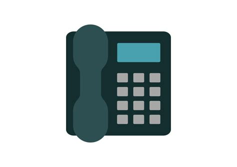 Landline Address Search Landline Phone Flat Vector Icon Superawesomevectors