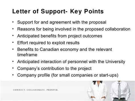Support Letter Research Project nserc strategic projects grants overview