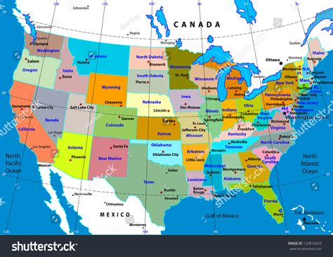 capital usa map capital map usa