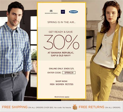 free shipping at banana republic the gap old navy march 2013 page 7 of 8 canada deals blog canada