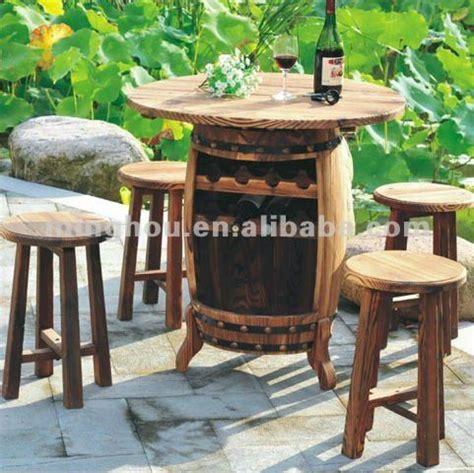 wine barrel outdoor furniture muebles de jard 237 n barril de vino de mesa mesas antiguas