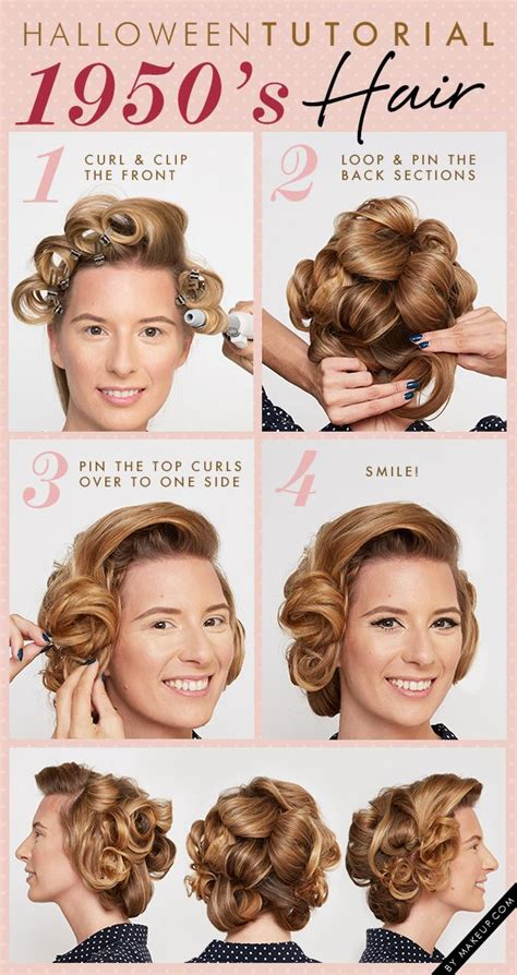 1950s step by step hairstyle 1950 s hair tutorial 1950 s old hollywood glamour