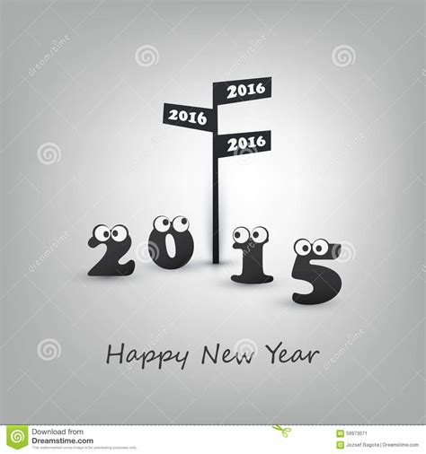 happy new year creative wishes abstract modern style happy new year greeting card