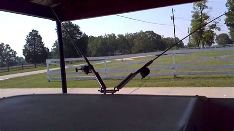 ranger boat cleats boat cleat fishing rod holders no drilling no bolts youtube