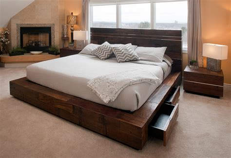 bedroom with futon reclaimed wood platform bed bedroom modern with bed down