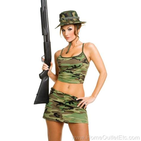 womens 3pc camouflage army fatigues camo tank top