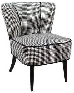 fauteuil crapaud polyester vence pied de poule 233 noir