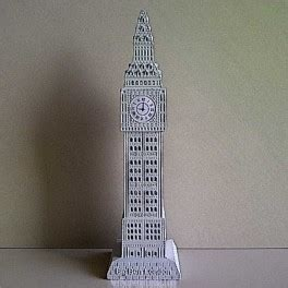 Magnet Kulkas Negara Big Ben Inggris jual souvenir miniatur jam big ben putih