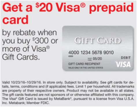 Visa Gift Card Promotion - staples 20 rebate with the purchase of 300 in visa gift cards frequent miler