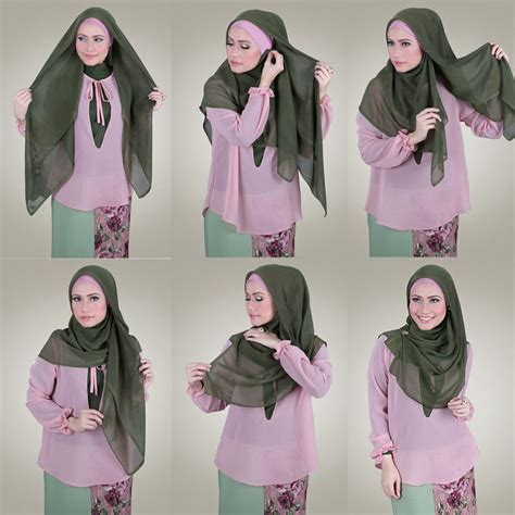 tutorial hijab simple dan gang 25 kreasi tutorial hijab segi empat simple terbaru 2018