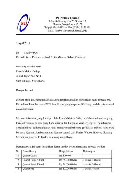 Contoh Surat Penawaran Berupa Barang by 12 Contoh Surat Penawaran Kerjasama Barang Jasa